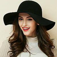 Модний весняно-осінній капелюх Женская шляпа с широкими полями