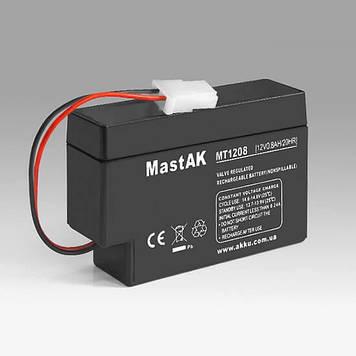 Акумулятор MastAK MT1208 (12v 0,8 Ah)