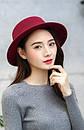 Модний весняно-осінній капелюх канотьє с широкими полями шляпа канотье, фото 2