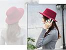 Модний весняно-осінній капелюх канотьє с широкими полями шляпа канотье, фото 3