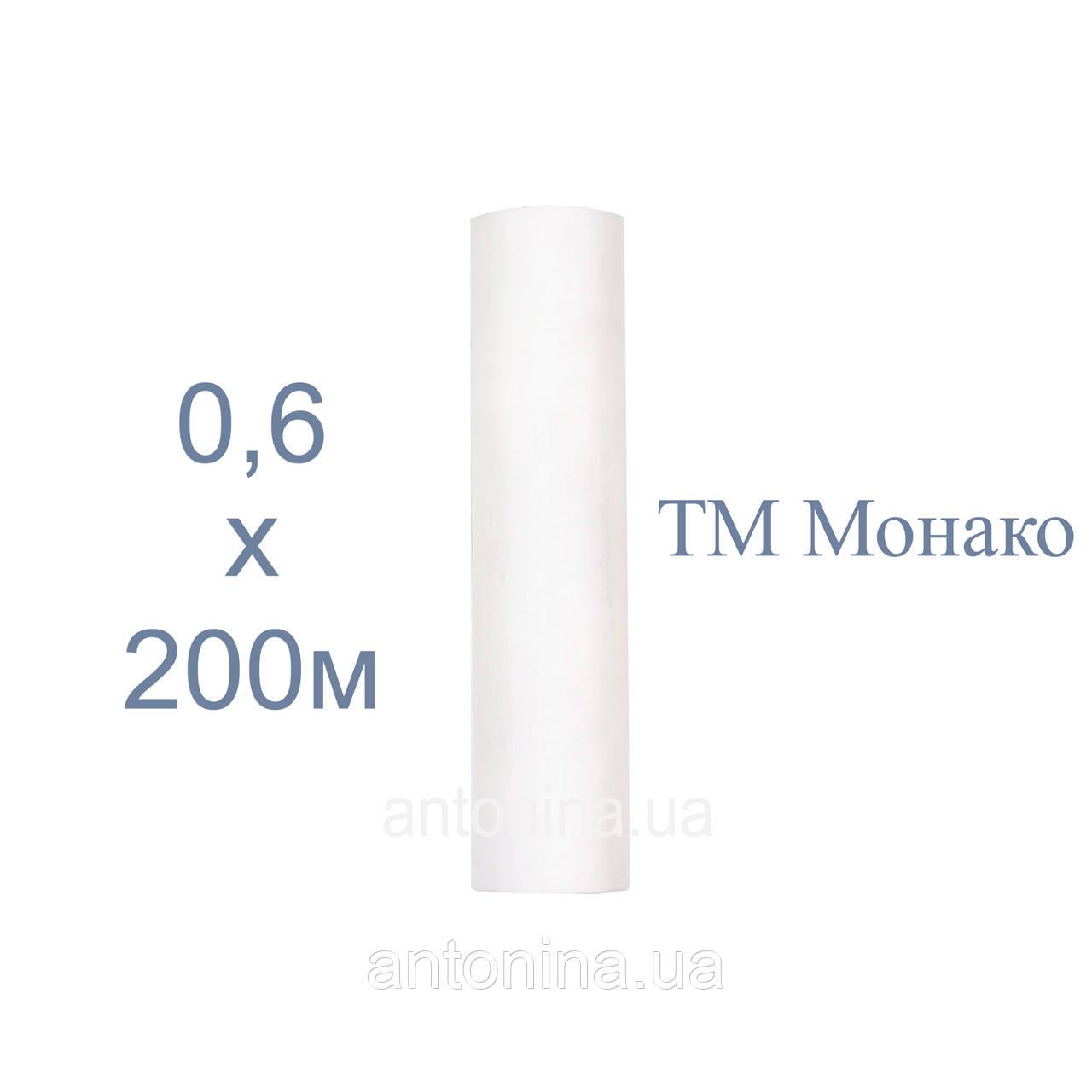 """Одноразові простирадла білі 0,6х200м ТМ """"Монако"""", спанбонд на кушетку"""
