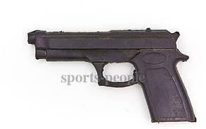 Пистолет-макет резиновый для единоборств, тренировок, удобная ручка, 21.5*12.5 см