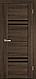 """Двері засклені міжкімнатні новий стиль Віва """"Меріда BLK,G,GRF"""" 60,70,80,90 см бук шато, фото 2"""