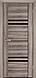 """Двері засклені міжкімнатні новий стиль Віва """"Меріда BLK,G,GRF"""" 60,70,80,90 см бук шато, фото 3"""