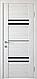 """Двері засклені міжкімнатні новий стиль Віва """"Меріда BLK,G,GRF"""" 60,70,80,90 см бук шато, фото 4"""
