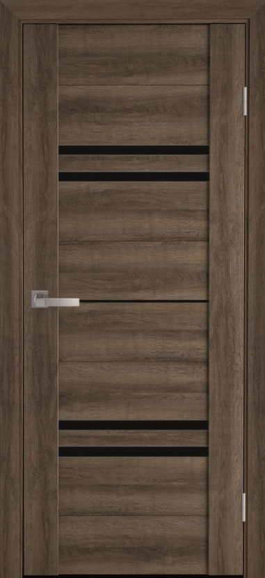 """Двері засклені міжкімнатні новий стиль Віва """"Меріда BLK,G,GRF"""" 60,70,80,90 см бук шато"""