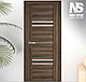 """Двері засклені міжкімнатні новий стиль Віва """"Меріда BLK,G,GRF"""" 60,70,80,90 см бук шато, фото 9"""