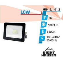 Прожектор LED RIGHT HAUSEN Soft світлодіодний 10W 6500K IP65 чорний HN-191012