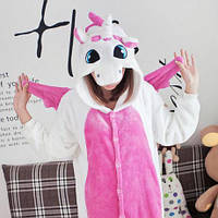 Пижама Костюм Кигуруми единорог розовые крылья S, M, L, XL