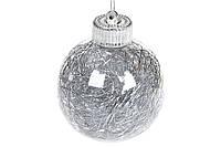 Набор елочных шаров 8см, серебро 16шт