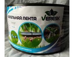 Капельная лента щелевая Veresk отверстия через 10 см, расход воды 1,2 л/ч,8mil длина 300 м (BL10-300J)