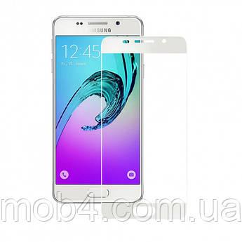 Защитное стекло для Samsung Galaxy (Самсунг) A310 на весь экран (чёрное, белое, золото)