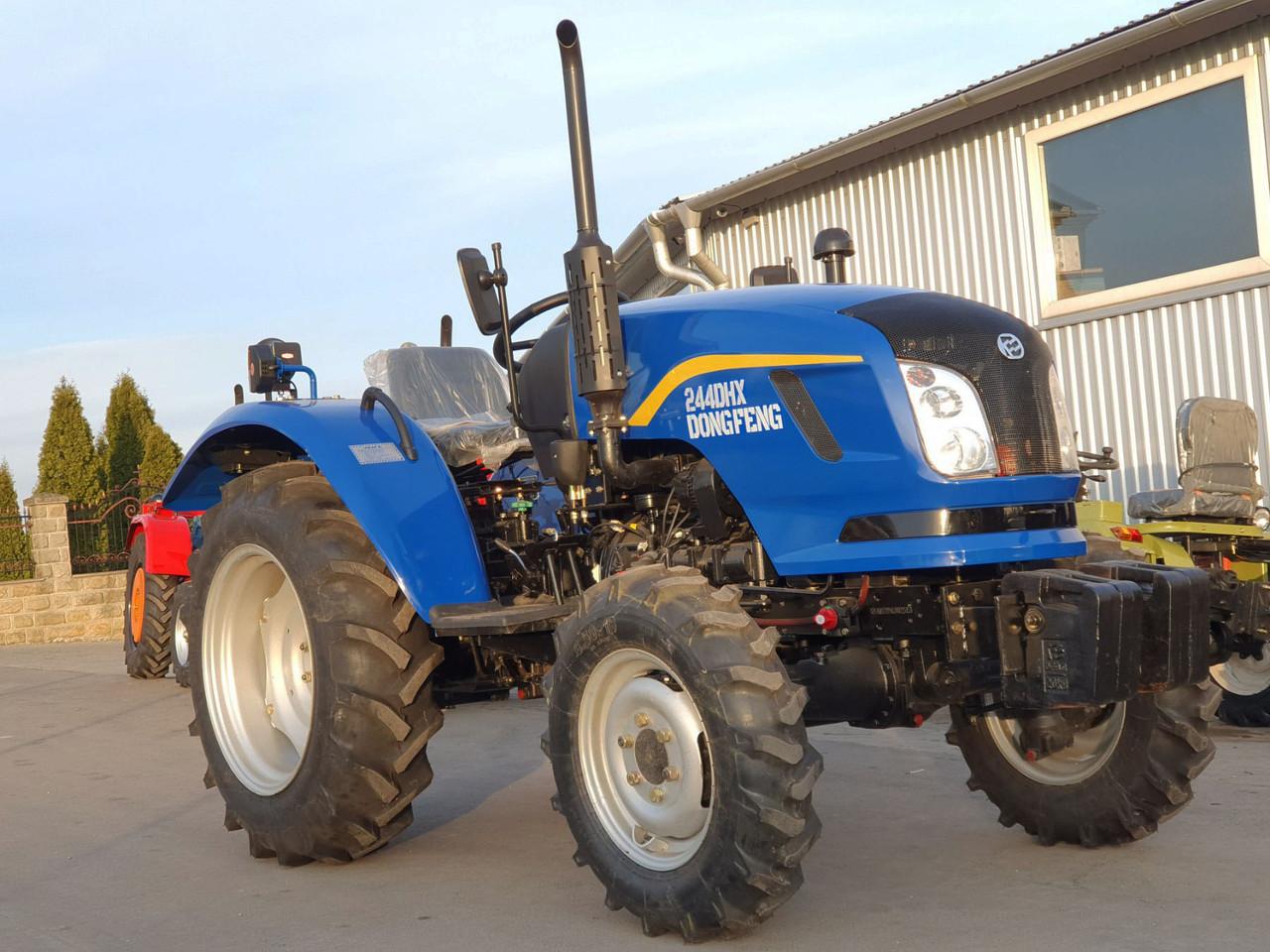Трактор DongFeng 244 DHX, 3 цил, 24 л.с, ГУР, увеличенные шины, 4х4, усиленный передний мост, гарантия