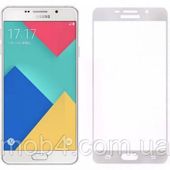 Защитное стекло для Samsung Galaxy (Самсунг) A510 на весь экран (чёрное, белое, золото)