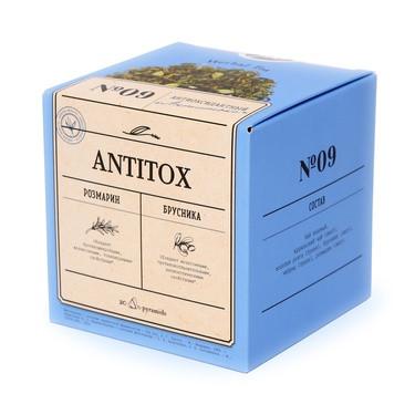 Антиоксидантный Antitox  чайный напиток,упаковка фито чай, 40 гр по 2гр ,пирамидки
