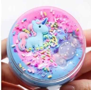 Unicorn candy slime / Конфетный единорожка - слайм