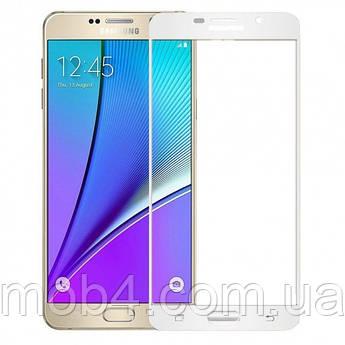 Захисне скло для Samsung Galaxy (Самсунг) A710 на весь екран (чорне, біле золото)