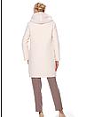 Пальто женское  молочное зимнее Modna KAZKA  50 размера, фото 3