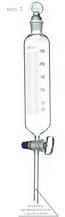Воронка делительная цилиндрическая с делениями ВД-1, 500 мл