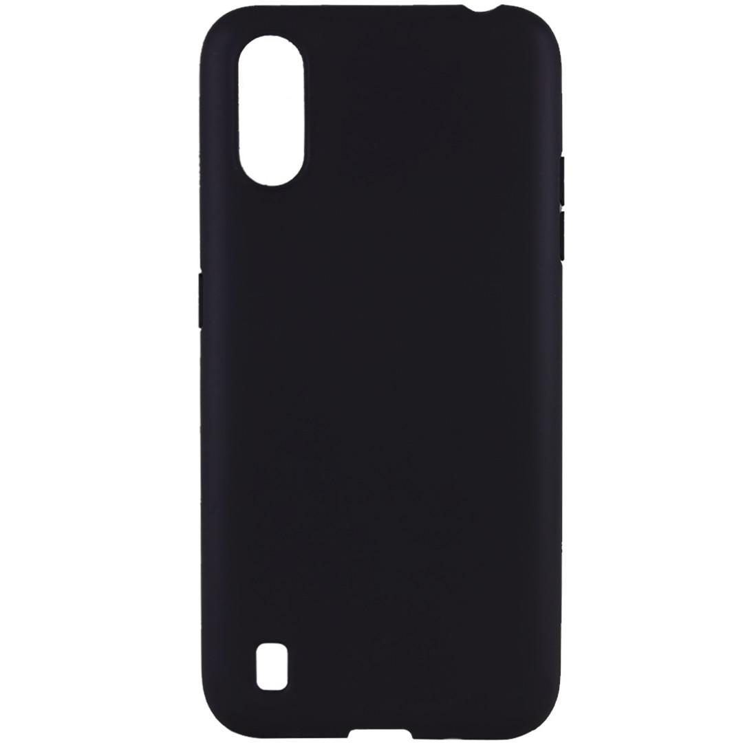 Ультратонкий силиконовый чехол для Samsung Galaxy A01 (SM-A015), черный