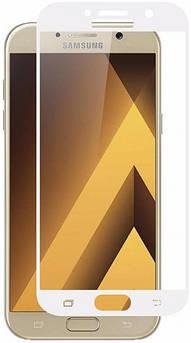 Защитное стекло для Samsung Galaxy (Самсунг) A520 на весь экран (чёрное, белое, золото)