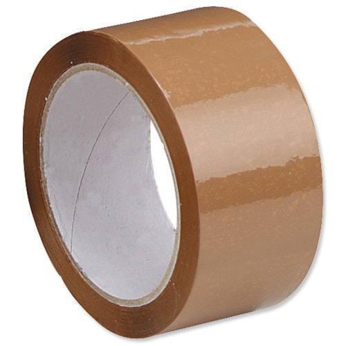 Лента клейкая 48 * 160 коричневая