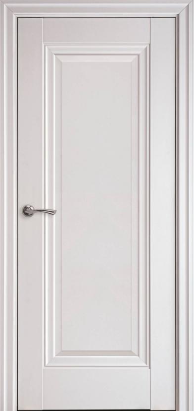 """Двері міжкімнатні глухі новий стиль Елегант """"Престиж ML0"""" 60,70,80,90 см без молдинга, білий матовий"""