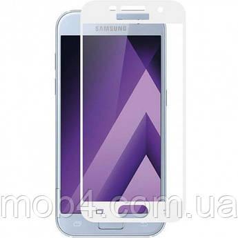 Защитное стекло для Samsung Galaxy (Самсунг) A7 2017 (A720) на весь экран (чёрное, белое, золото)