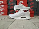 Чоловічі демісезонні кросівки Nike Air Max 90 (Білі) D29, фото 9