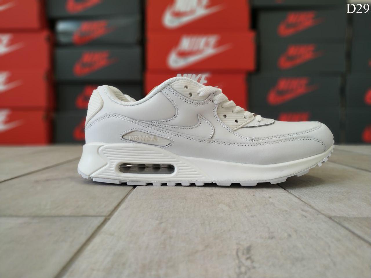 Мужские демисезонные кроссовки Nike Air Max 90 (Белые) D29