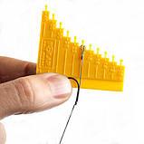 Линейка для изготовления волосяной оснастки , измеритель волоса, фото 2