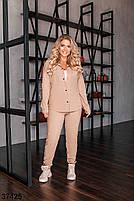 Вельветовый брючный костюм с рубашкой с рядом кнопок впереди с 50 по 54 размер, фото 2