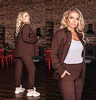 Вельветовый брючный костюм с рубашкой с рядом кнопок впереди с 50 по 54 размер, фото 8