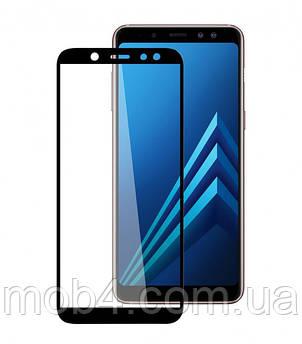 Захисне скло для Samsung Galaxy (Самсунг) A6 plus 2018 (На весь екран)