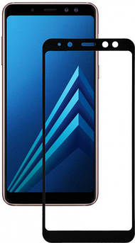 Захисне скло для Samsung Galaxy (Самсунг) A8 2018 (На весь екран)