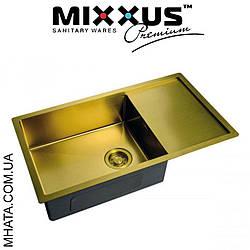 Кухонна мийка Mixxus MX7844-200x1.2-PVD-GOLD