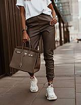 Стильні брюки з високою талією еко шкіра, фото 3
