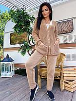 Костюм вязаный прогулочный брюки и кофта на пуговицах, фото 2