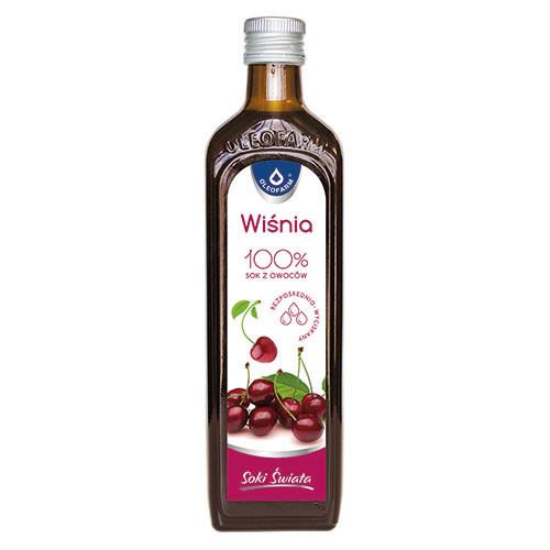 Сок вишни,  100% натуральний сок вишни, 490 мл, без консервантов, без сахара, Oleofarm