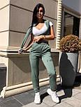 Женский спортивный костюм двойка из трехнитки со свитшотом и капюшоном 22051080, фото 9