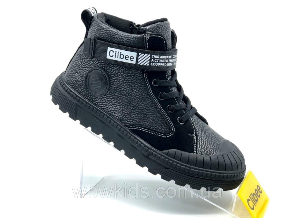 Ботинки детские Clibee P-501 для мальчиков черные 29р.
