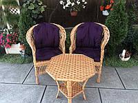 Мебель из лозы (набор с накидками)., фото 1
