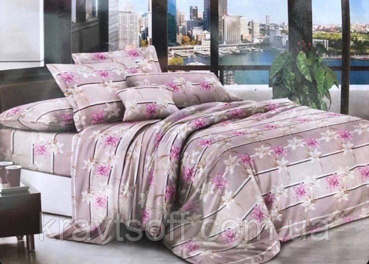 Комплект постельного белья ЦВЕТЫ бязь