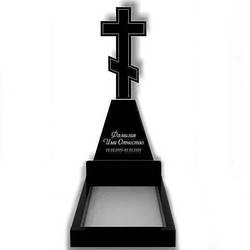 Пам'ятник у вигляді хреста з граніту (130 см) До-08