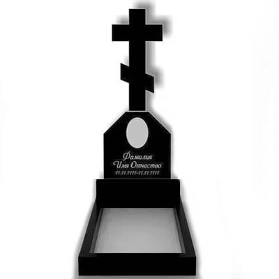 Пам'ятник у вигляді хреста з граніту (130 см) До-07