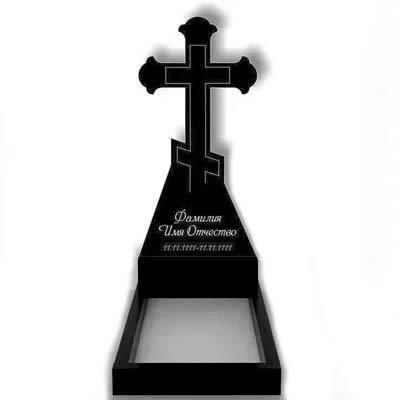 Пам'ятник у вигляді хреста з граніту (120 см) До-06