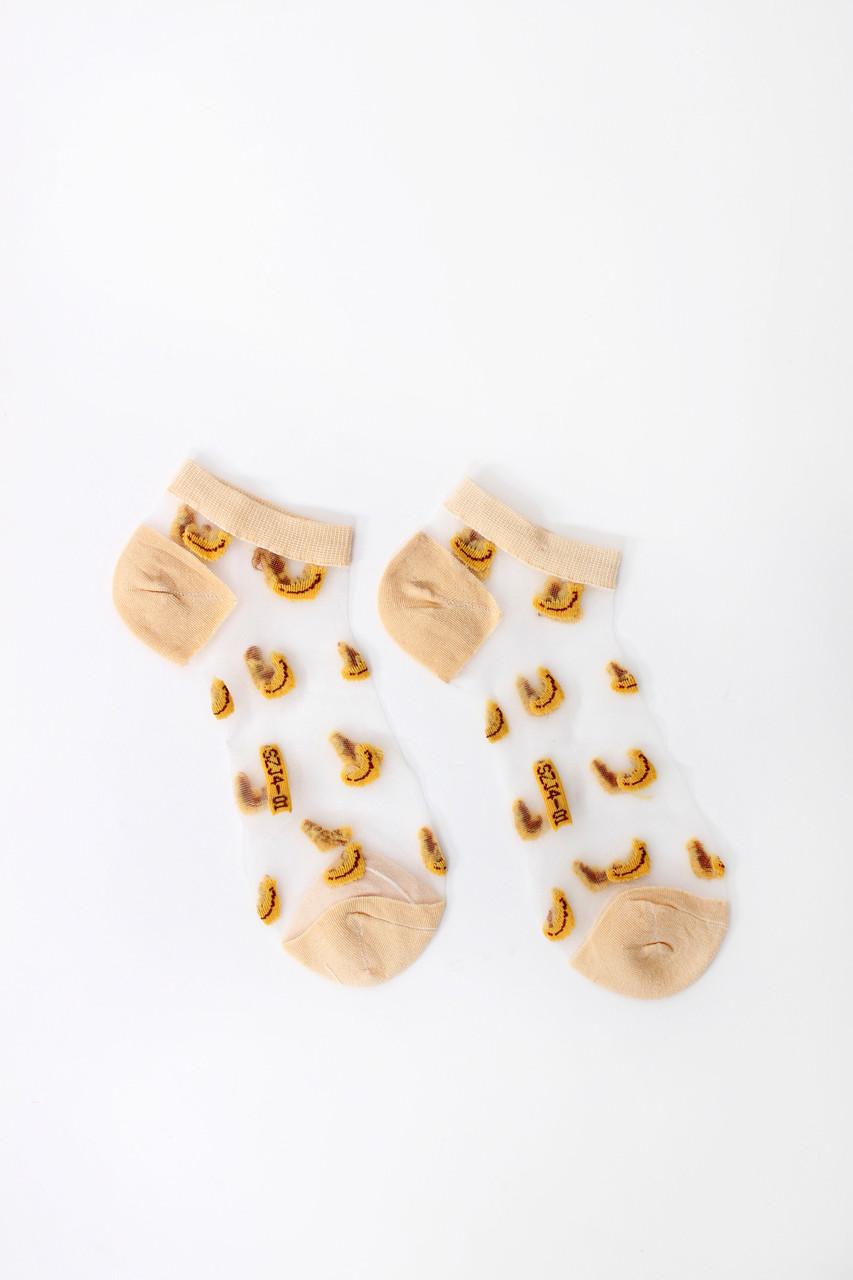 Женские носки FAMO Носочки Дейзи бежевые 36-39 (NF-2003-1)