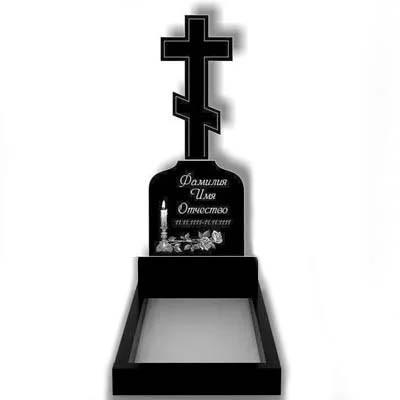 Пам'ятник у вигляді хреста з граніту (130-50 см) До-05