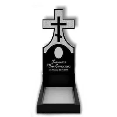 Пам'ятник у вигляді хреста з граніту (100 см) До-03