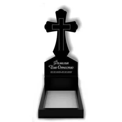 Памятник в виде креста из гранита (100 см) К-01
